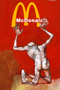 Cartoon: fastfood is good (small) by Wiejacki tagged food,meal,human,condition