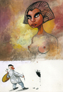Cartoon: painter (small) by Wiejacki tagged woman beauty fashion health art painting model nude