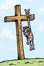 Cartoon: Victory for Jesus (small) by svitalsky tagged jesus,crucifixion,victory,crucifix,holy,cartoon,svitalsky,svitalskybros