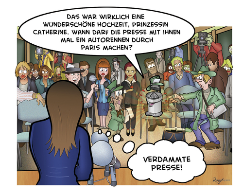 Cartoon: Die Presse 12 (medium) by Die Presse tagged camilla,abbey,westminster,middleton,mountbatten,windsor,palace,buckingham,queen,charles,marriage,william,kate,wedding,royal