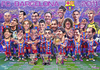 Cartoon: FC Barcelona 2011 poster (small) by Tonio tagged football