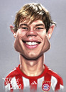 Cartoon: Holger Badstuber (small) by Tonio tagged deutsch international german soccer football nationalmanschaft münchen karikatur fussball