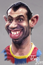 Cartoon: Javier Mascherano   FC Barcelona (small) by Tonio tagged football