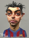 Cartoon: Xavi Hernandez FC Barcelona (small) by Tonio tagged fc,barcelona,spanish,international,midfielder,la,liga,champions,ligue