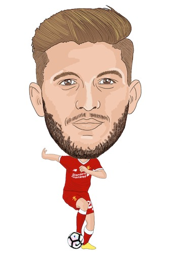 Cartoon: Lallana Cartoon (medium) by Vandersart tagged liverpool,caricature,cartoon
