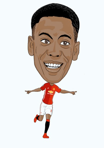 Cartoon: Martial Man Utd (medium) by Vandersart tagged manchester,united,cartoons,caricatures