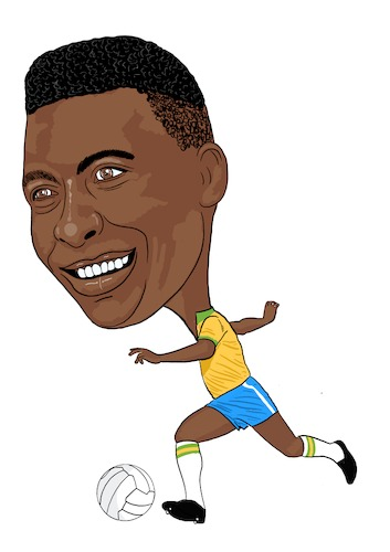 Cartoon: Pele Brazil Legend (medium) by Vandersart tagged pele,cartoon