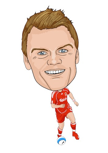 Cartoon: Riise Liverpool Legend (medium) by Vandersart tagged liverpool,cartoons,caricatures