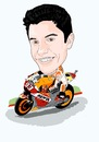 Cartoon: Marc Marquez (small) by Vandersart tagged marc,marquez,cartoons,caricatures