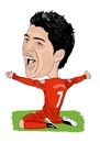 Cartoon: Suarez Liverpool legend (small) by Vandersart tagged liverpool,cartoons,caricatures