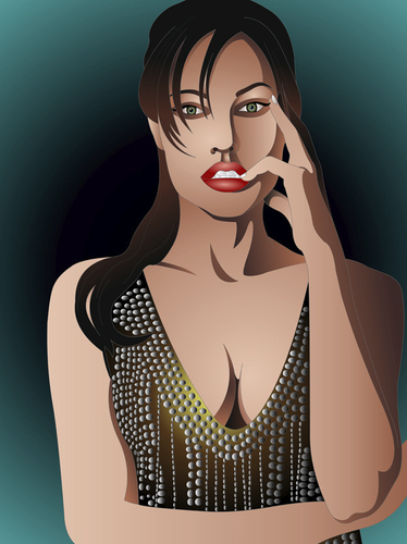 Cartoon: Angelina Jolie (medium) by Vera Gafton tagged actress,angelina,awards,celebrity,famous