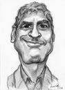 Cartoon: George Clooney (small) by Vera Gafton tagged caricature,pencil,portrait