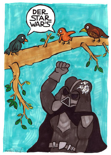 Cartoon: Der Star Wars (medium) by meikel neid tagged star,wars,vogel,kot