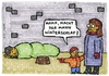 Cartoon: winterschlaf (small) by meikel neid tagged winterschlaf,winter,armut,obdachlos,straße,kind,mutter,frage