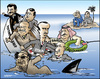 Cartoon: Dictator ship (small) by jeander tagged gadaffi,khadaffi,libya,dictator,syria,yemen,iraq,saudi,arabia