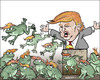 Cartoon: Jumping frogs (small) by jeander tagged trump,frogs,election,us,president