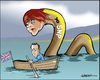 Cartoon: Loch Ness (small) by jeander tagged sturgeon,ncp,cameron,scotland,loch,ness