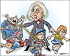 Cartoon: The new nanny (small) by jeander tagged theresa,may,pm,greatbritain,primeminister,brexit