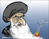 Cartoon: The spark (small) by jeander tagged iran,saudiarabia,ali,khamenei