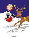 Cartoon: Sorry Santa ! (small) by andybennett tagged rudolph,oops,sorry,santa,christmas,andy,bennett