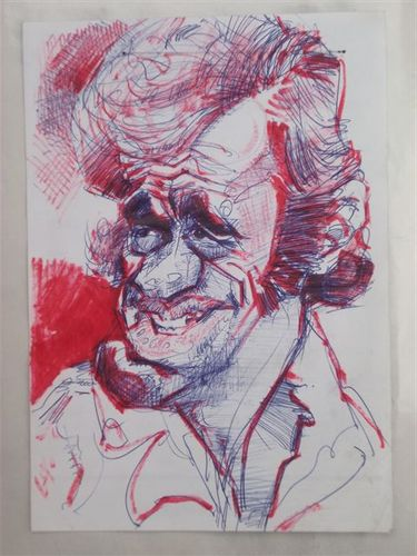 Cartoon: BELMONDO (medium) by GOYET tagged cartoon,celebreties,belmondo
