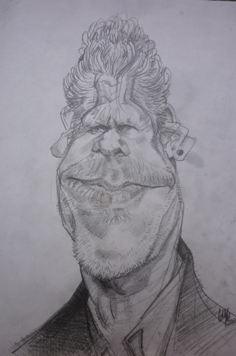 Cartoon: RON PERLMAN (medium) by GOYET tagged ron,perlman,actor,celebretie,cartoon,caricature
