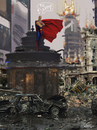 Cartoon: MADRID.  2030 (small) by GOYET tagged funnie,photomanipulation,madrid,caos,superman,digital