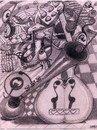 Cartoon: TERAPEUTIC DRAWIN (small) by GOYET tagged surrealistic,surreal,drawin