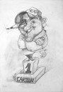 Cartoon: THE BIGEST HEAD (small) by GOYET tagged mano,head,caricaturistas,carttonistas,artist