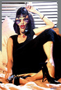 Cartoon: UMA THURMAN REALISTIC CARTOON (small) by GOYET tagged uma,thurman,pulp,fiction,tarantino