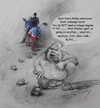 Cartoon: Rush Limbaugh after Obama (small) by yllifinearts tagged rush,limbaugh,barack,obama