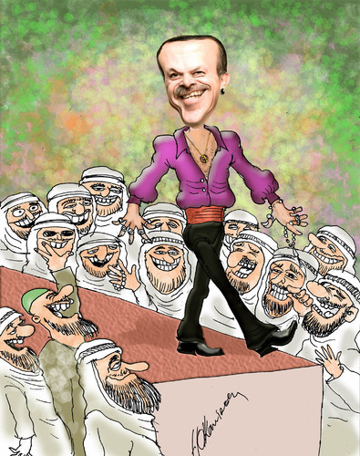 Cartoon: a new favorite of Arabs (medium) by hakanipek tagged turkey,prime,minister,the,middle,east,politics