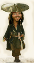 Cartoon: jonny deep (small) by hakanipek tagged pirate of the caribbean