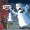Cartoon: Nur Spuken (small) by neufred tagged spuken,geist,ghost,hund,angst,fear,nacht,halloween,gruselig,halsband