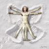Cartoon: Renaissance-Schneengel (small) by neufred tagged leonardo da vinci schneengel winter alfred neuwald