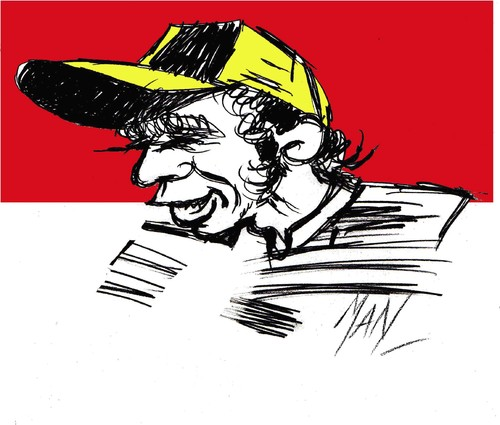 Cartoon: Valentino Rossi (medium) by Enzo Maneglia Man tagged valentino,caricatura,rossi,campione,motociclismo