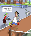 Cartoon: Das Autogramm (small) by rene tagged autogramm,fan,tennis,computer