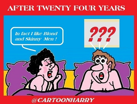 Cartoon: After 24 Years (medium) by cartoonharry tagged marriage,cartoonharry