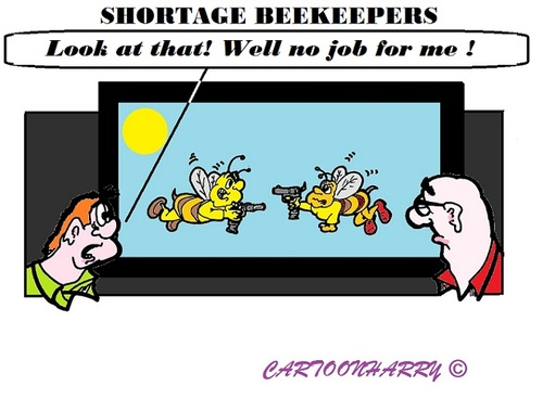 Cartoon: Beekeepers (medium) by cartoonharry tagged holland,beekeeper