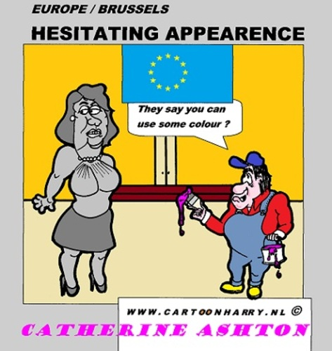 Cartoon: Catherine Ashton (medium) by cartoonharry tagged catherineashton,colourfull,eu,paint,cartoon,comic,comics,comix,artist,art,arts,drawing,brussels,cartoonist,cartoonharry,dutch,toonpool,toonsup,facebook,hyves,linkedin,buurtlink,deviantart