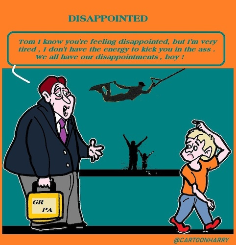 Cartoon: Disappointed (medium) by cartoonharry tagged grandpa,grandsun,disappointed,cartoonharry