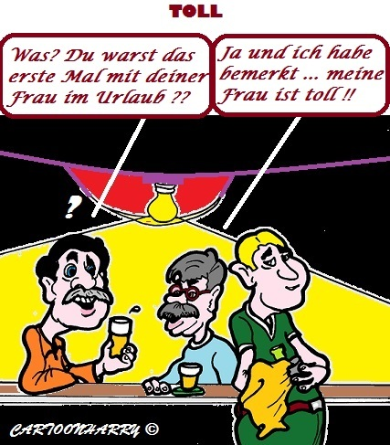 Cartoon: Eine Fantastische Frau (medium) by cartoonharry tagged urlaub,frau