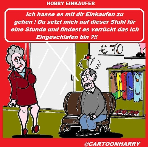 Cartoon: Hobby (medium) by cartoonharry tagged hobby,einkaufen