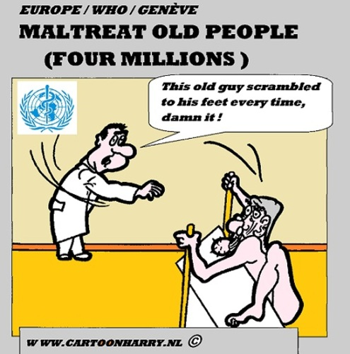 Cartoon: Ill-Treatment Old People in Euro (medium) by cartoonharry tagged tough,gingerbread,old,europe,illtreatment,cartoon,cartoonist,cartoonharry,dutch,toonpool