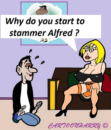 Cartoon: Stammer (medium) by cartoonharry tagged stammer,marriage,offer,cartoon,cartoonist,cartoonharry,dutch,toonpool