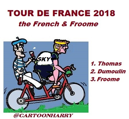 Cartoon: Tour devFrance 2018 (medium) by cartoonharry tagged tourdefrance2018,froome,cartoonharry
