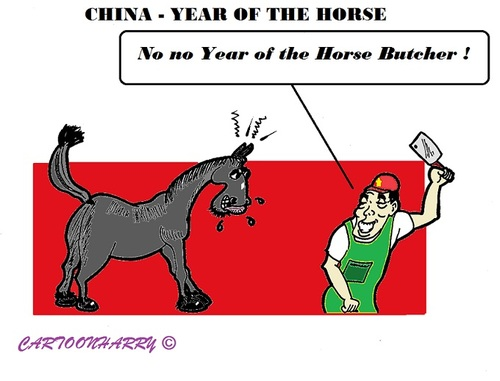 Cartoon: Year of the Horse (medium) by cartoonharry tagged china,chinese,horoscope,cartoon,year,2014,horse