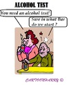 Cartoon: Alcohol Test (small) by cartoonharry tagged alcohol,test,bar