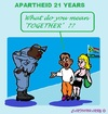 Cartoon: Apartheid (small) by cartoonharry tagged southafrica,apartheid,together,boy,girl,police