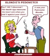 Cartoon: Blondies Pedometer (small) by cartoonharry tagged pedometer,catoonharry